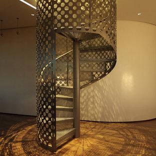 Urban spiral staircase photo in Minneapolis