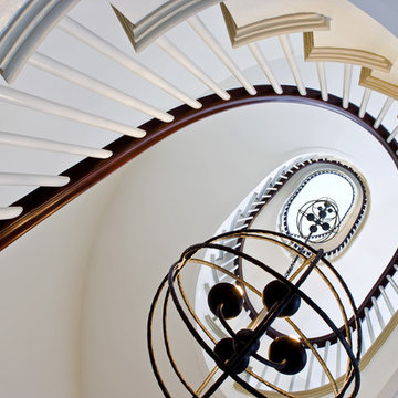 Upward into the spiral stair