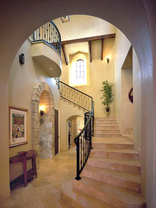 Mediterranean Staircase Tower : Best travertine steps design ideas remodel pictures houzz
