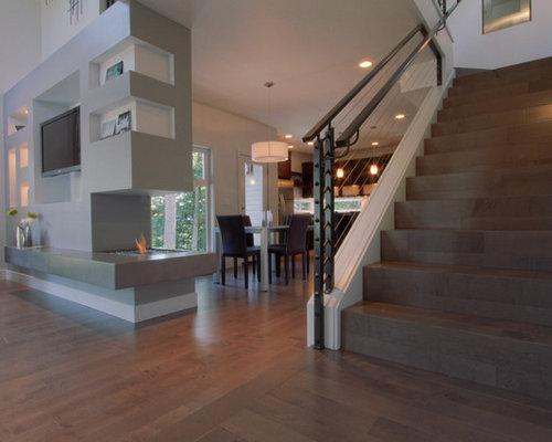 Foton och inredningsidéer för moderna trappor i Portland