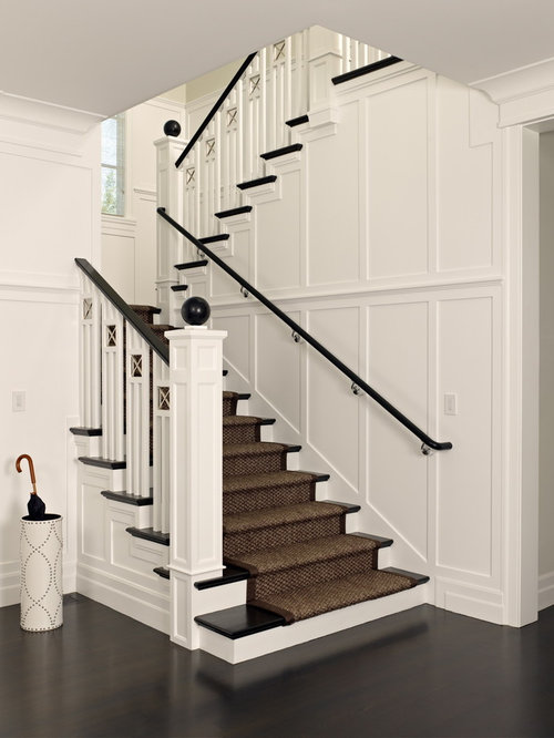 Beautiful Victorian Wooden U Shaped Staircase Idea In San Francisco