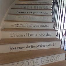 Farmhouse Staircase by Titan Homes