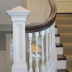 traditional staircase by Cairn Construction Inc.