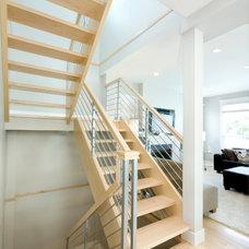 Modern Staircase by Wallmark Custom Homes