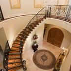 Princeton House Mediterranean Staircase Dallas By