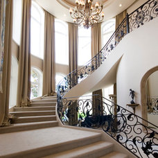 Mediterranean Staircase by Richard Luke Architects P.C.