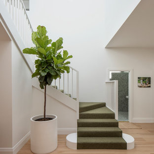 This is an example of a modern l-shaped staircase in Sydney.