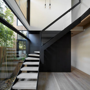 Example of a trendy staircase design in Melbourne