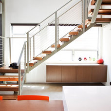 Contemporary Staircase by C & C Partners Design/Build Firm