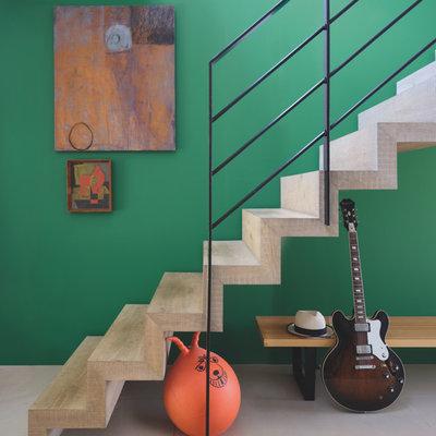 Contemporary Staircase by Farrow & Ball