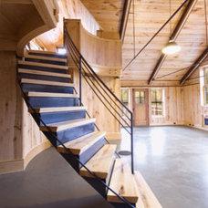 Contemporary Staircase by Birdseye Design