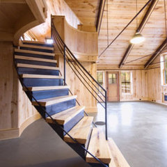 contemporary staircase by Birdseye Design