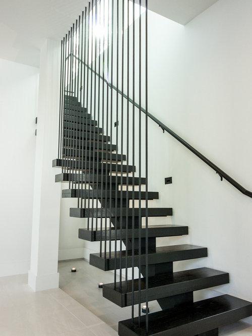 Vertical Bar Stair Railing   Memorial Houston Modern Home