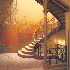 Traditional Staircase victor horta hotel tassel staircase