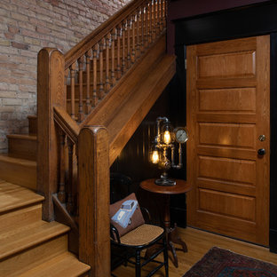 Inspiration for a victorian staircase remodel in Minneapolis