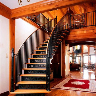 This is an example of a victorian staircase in Philadelphia.