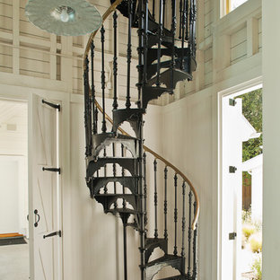Traditional spiral staircase in San Francisco.