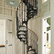 Farmhouse Staircase by John Malick & Associates