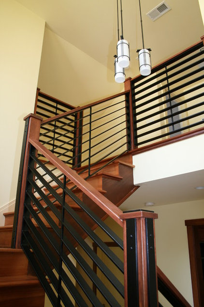 Craftsman Staircase by Shuler Architecture