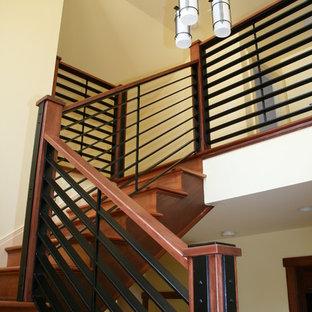 Идея дизайна: лестница в стиле кантри