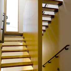 Modern Staircase by Mohler + Ghillino Architects