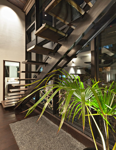 Modern Staircase by Abraham John ARCHITECTS