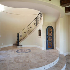 Mediterranean Staircase by Jorge Ulibarri Custom Homes