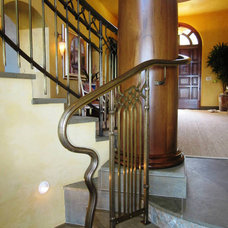 Mediterranean Staircase by Gast Architects