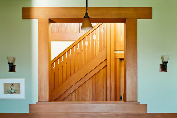 Traditional Staircase by John Malick & Associates
