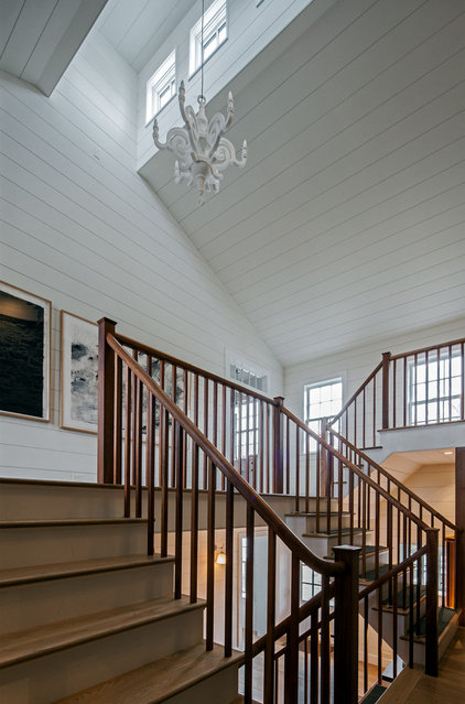 Traditional Staircase by KATE JOHNS AIA