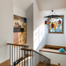 Beach Style Staircase by Sandvold Blanda Architecture + Interiors LLC