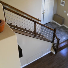 Contemporary Staircase by Malouin Stairworks