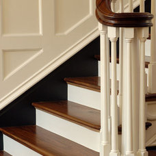 Traditional Staircase Walnut Floors