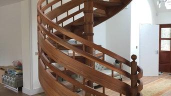 Walnut Spiral Staircase