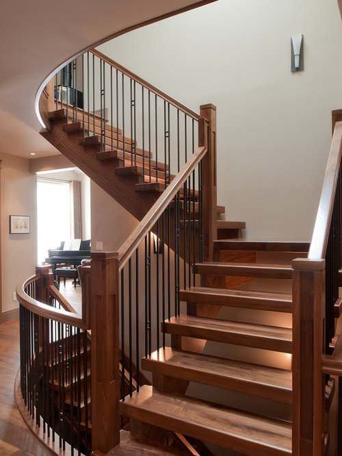 double open stairs craftsman staircase ideas designs remodel photos houzz