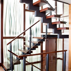 Contemporary Staircase by About:Space, LLC