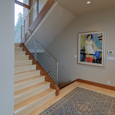 Modern Staircase by J.A. Hand Construction, Inc.
