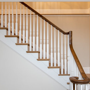 Example of a french country staircase design in DC Metro