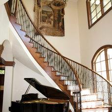 Mediterranean Staircase by Brandon Construction Company