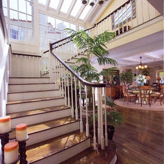 staircase by Donald B. Lane Interiors