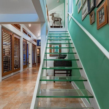 Watson House - Hallway with glass stair