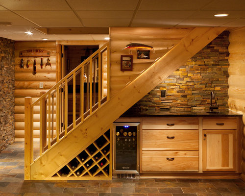 Example Of A Mountain Style Staircase Design In Milwaukee