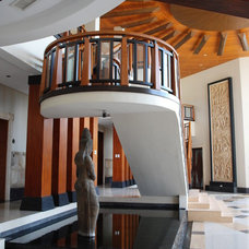 Asian Staircase Weekend House