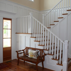 eclectic staircase by Tongue & Groove