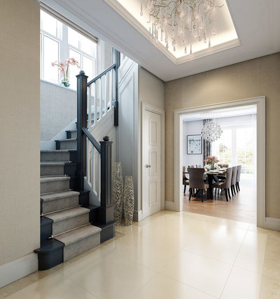 Traditional Staircase by Interieur London