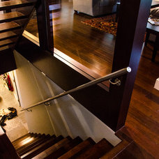Contemporary Staircase by Vancouver General Contractors