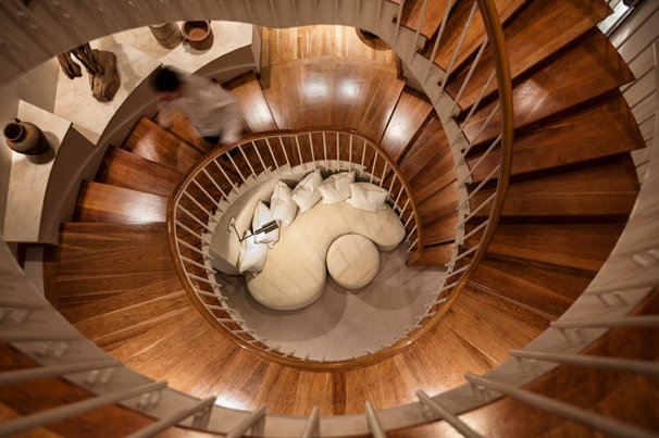 Contemporary Staircase by Cathers Home