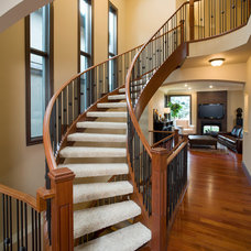 Traditional Staircase by Stephens Fine Homes Ltd