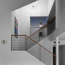 Contemporary Staircase by Amity Worrel & Co.