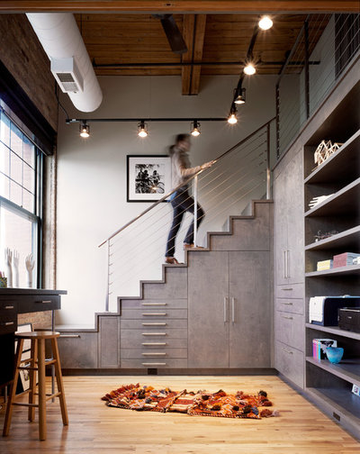 Industrial Staircase by Scrafano Architects